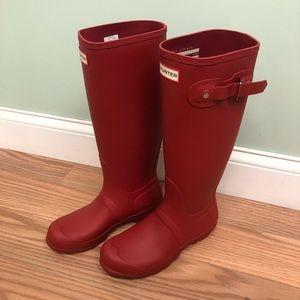Hunter Women's Rain Boots: Tall | Matte (P…